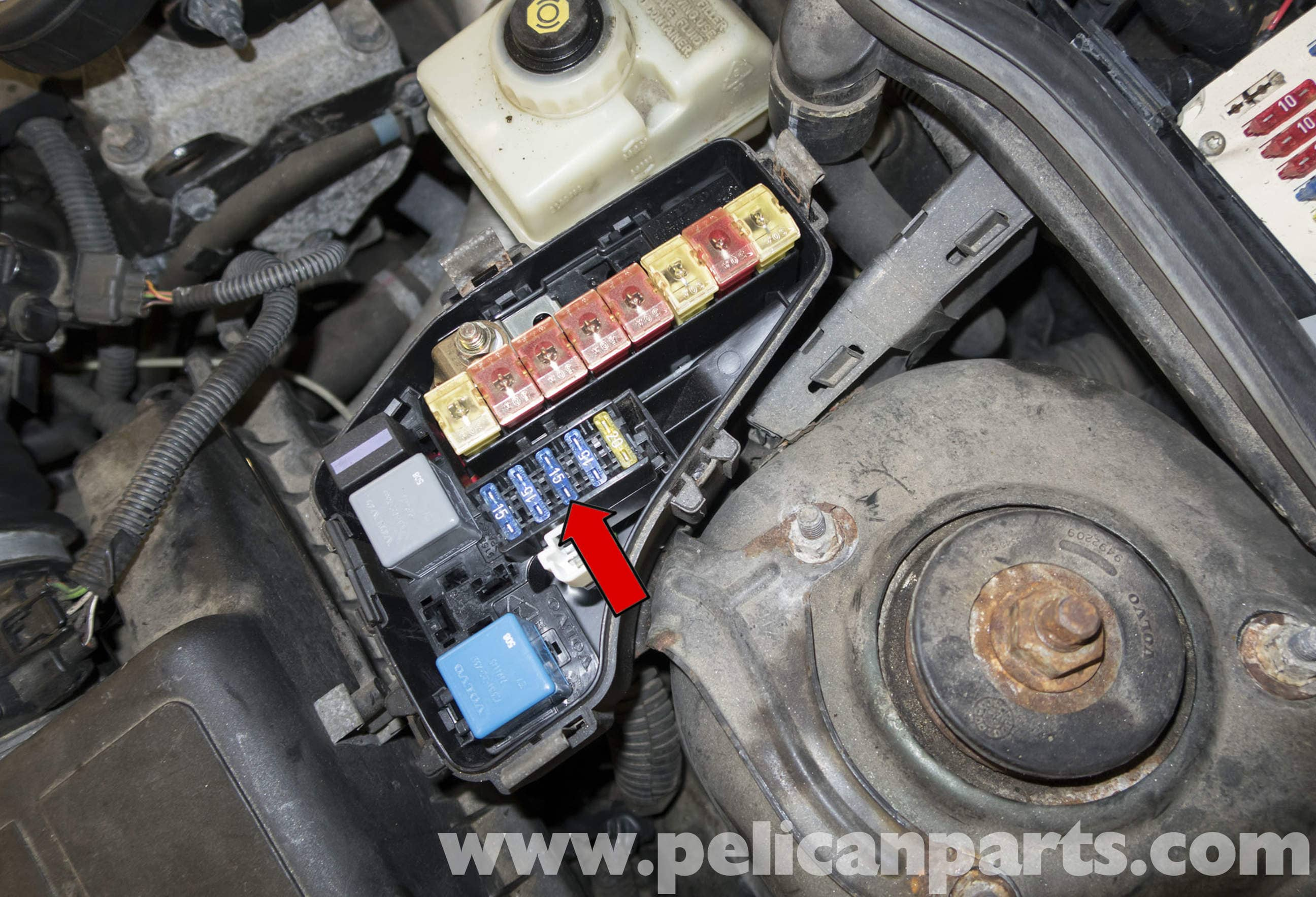 Volvo V70 Fuel Pump Replacement 1998 2007 Pelican Parts Diy Fuse Box Large Image Extra