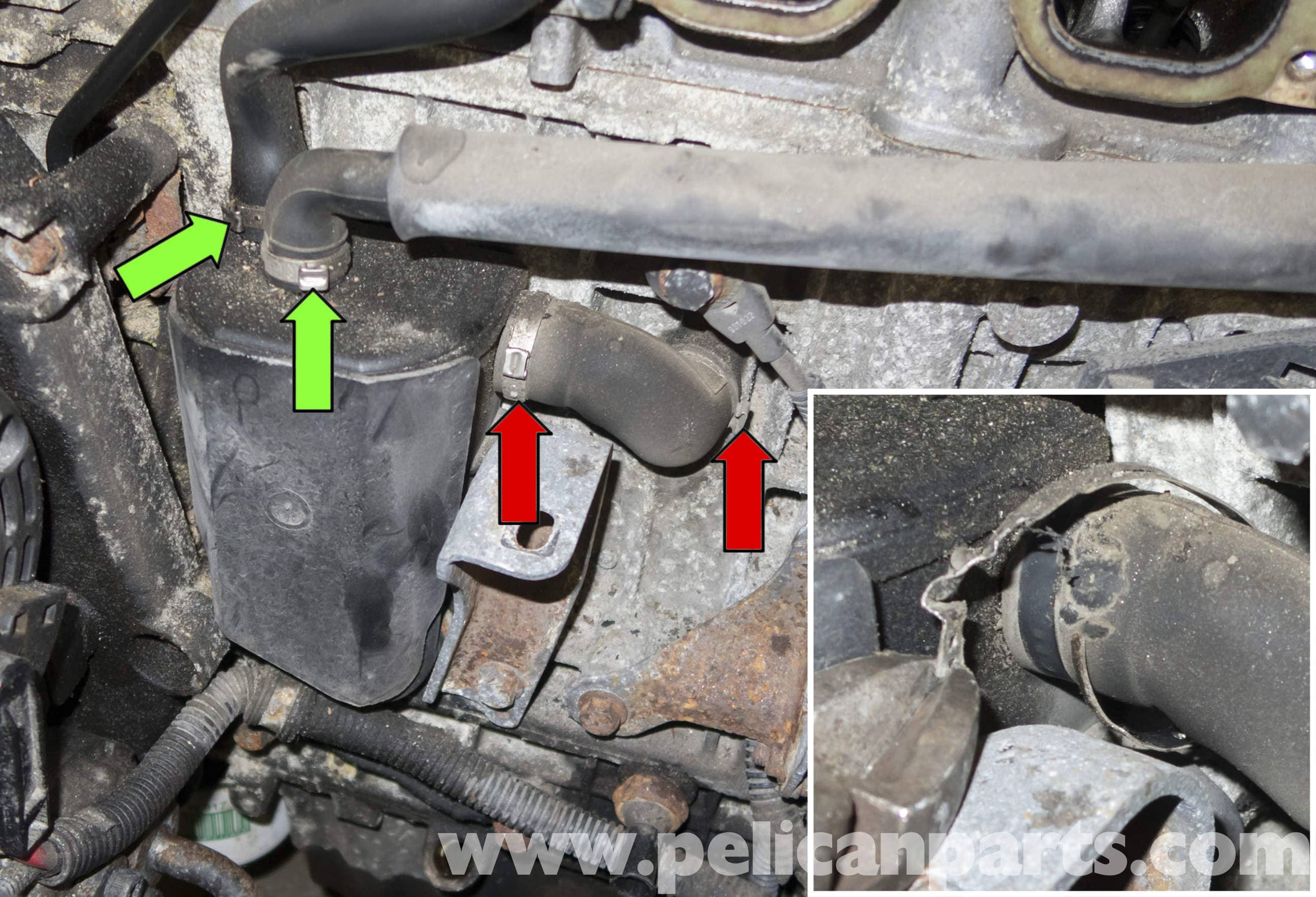 Volvo V70 Crankcase Breather Replacement (1998-2007) - Pelican Parts DIY Maintenance Article