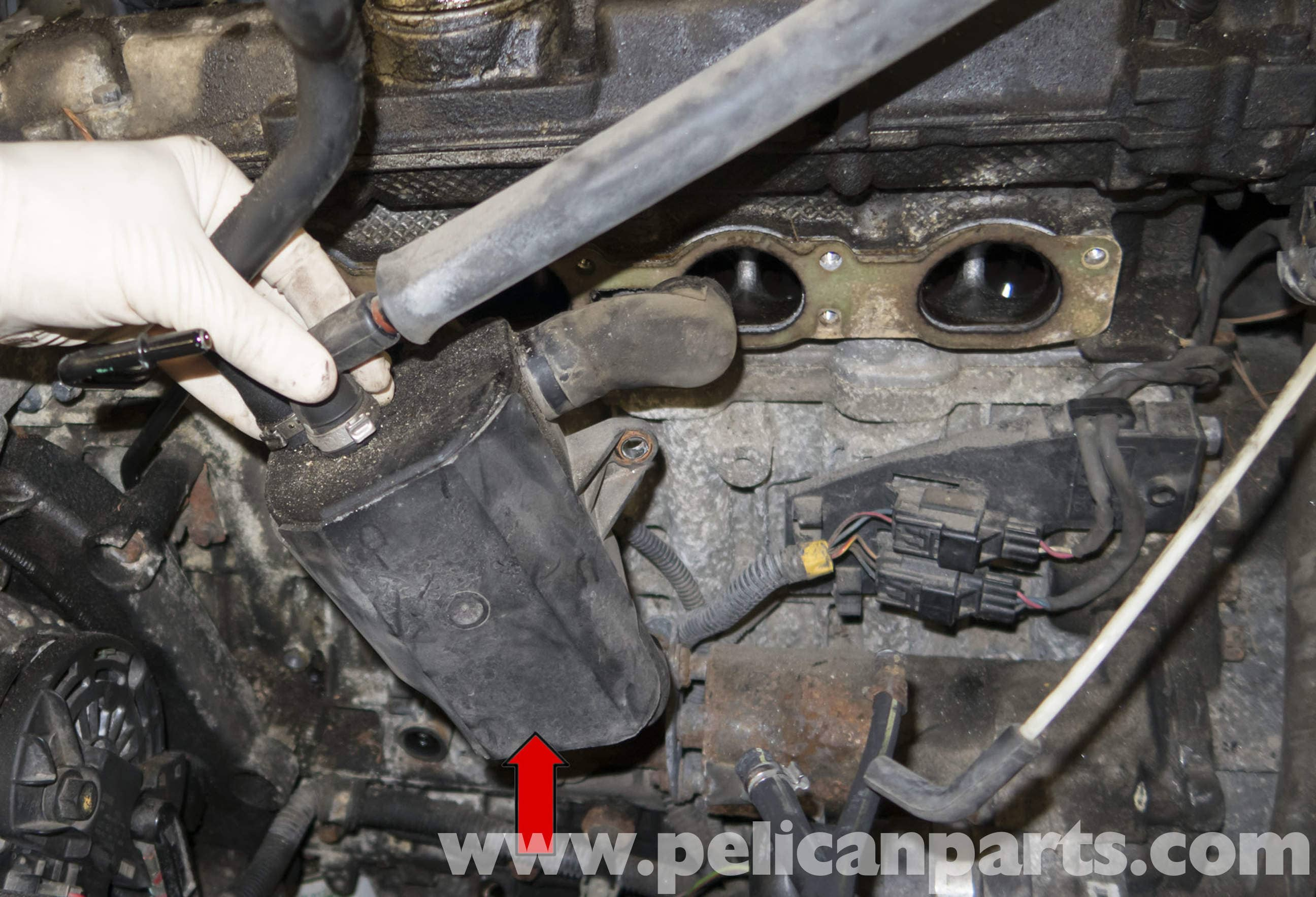 Oil Pan Leak >> Volvo V70 Crankcase Breather Replacement (1998-2007 ...