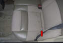 Rear Seat: Start at the left side seat cushion.