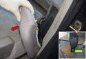Rear Seat: To remove the rear backrest, start by removing the side cushion.