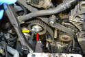 You will need to remove the timing belt off of the coolant pump to remove the pump.